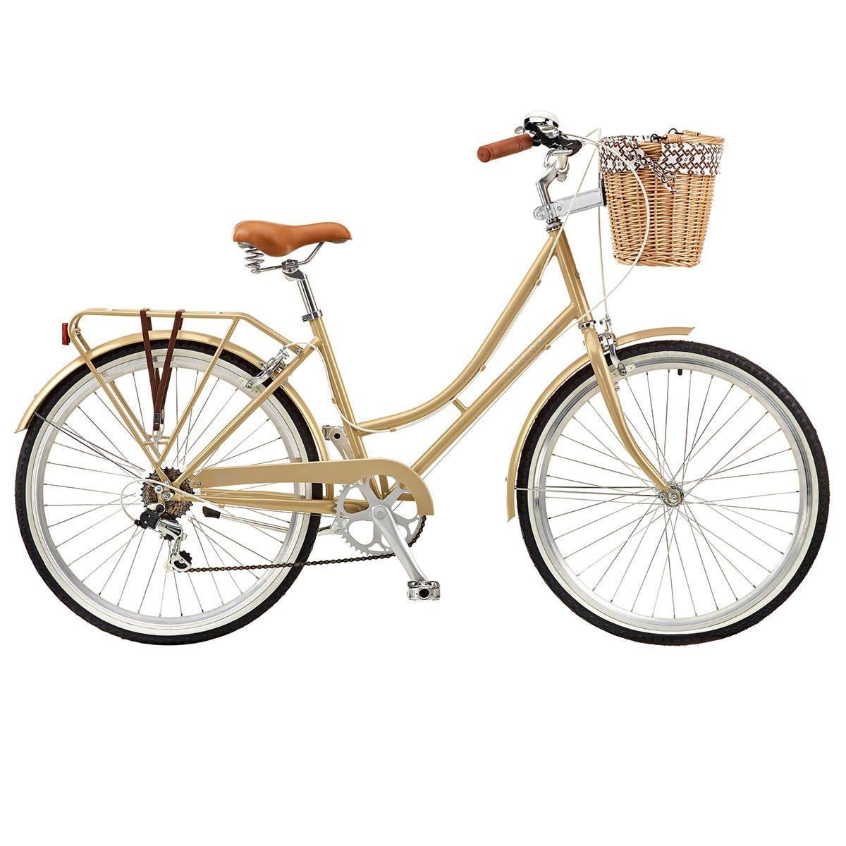 Ryedale Harriet 26 Inch Wheel 17 Inch Frame 6 Speed Ladies Heritage Bike - Latte
