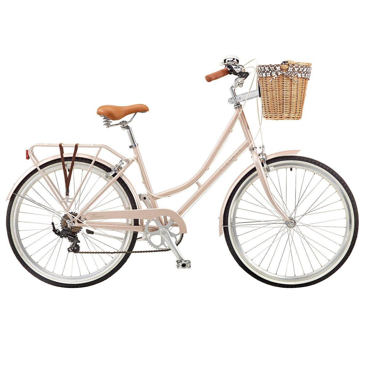 Ryedale Hermione 26 Inch Wheel 19 Inch Frame 7 Speed Ladies Heritage Bike - Rose Gold