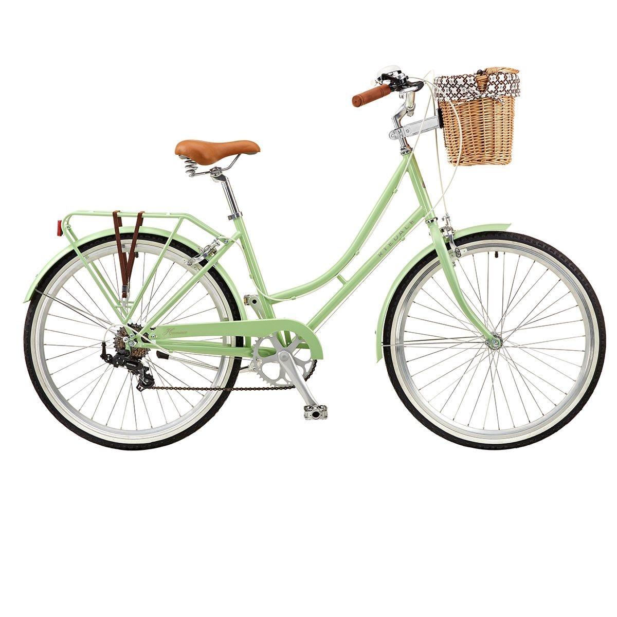 Ryedale Hermione 26 Inch Wheel 19 Inch Frame 7 Speed Ladies Heritage Bike - Peppermint