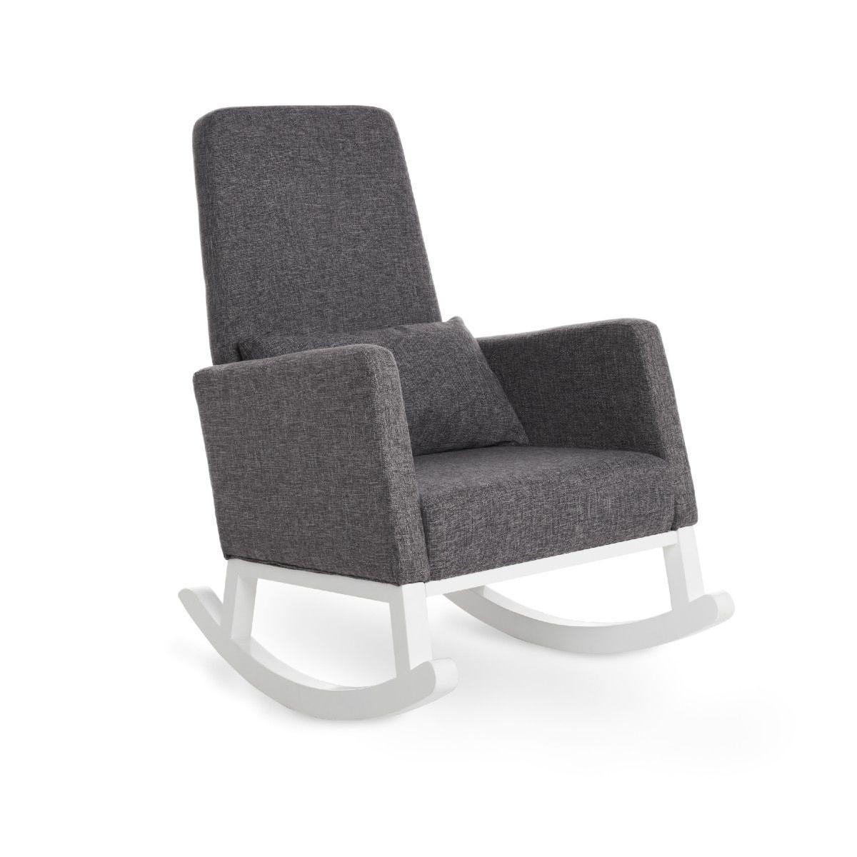 OBaby High Back Rocking Chair Grey