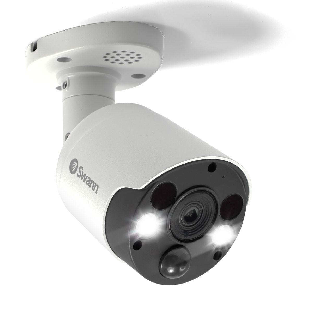 Swann 4K Ultra HD Bullet Camera with Spotlight & Siren