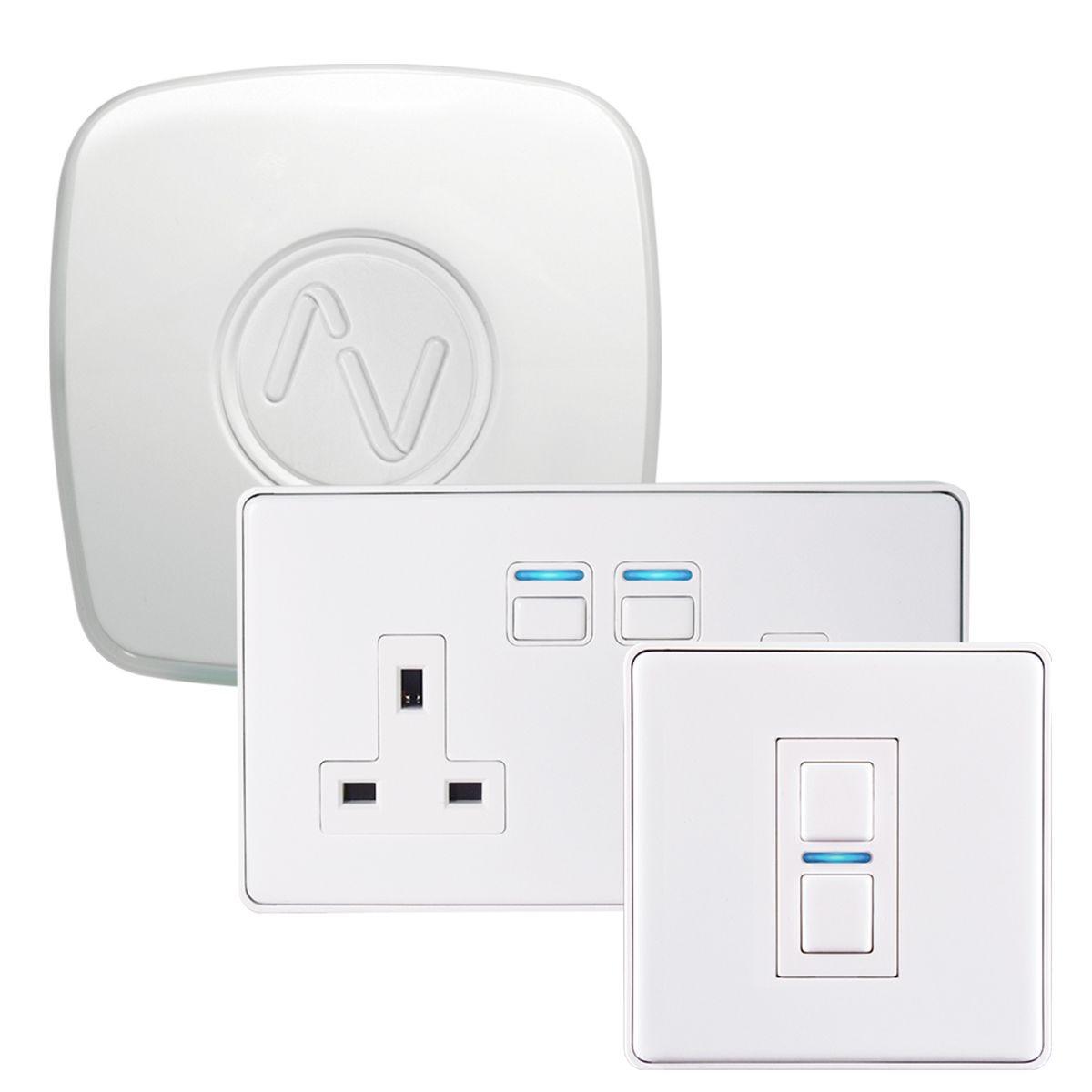 Lightwave Lighting & Power Starter Kit (Smart Series) -  White Metal