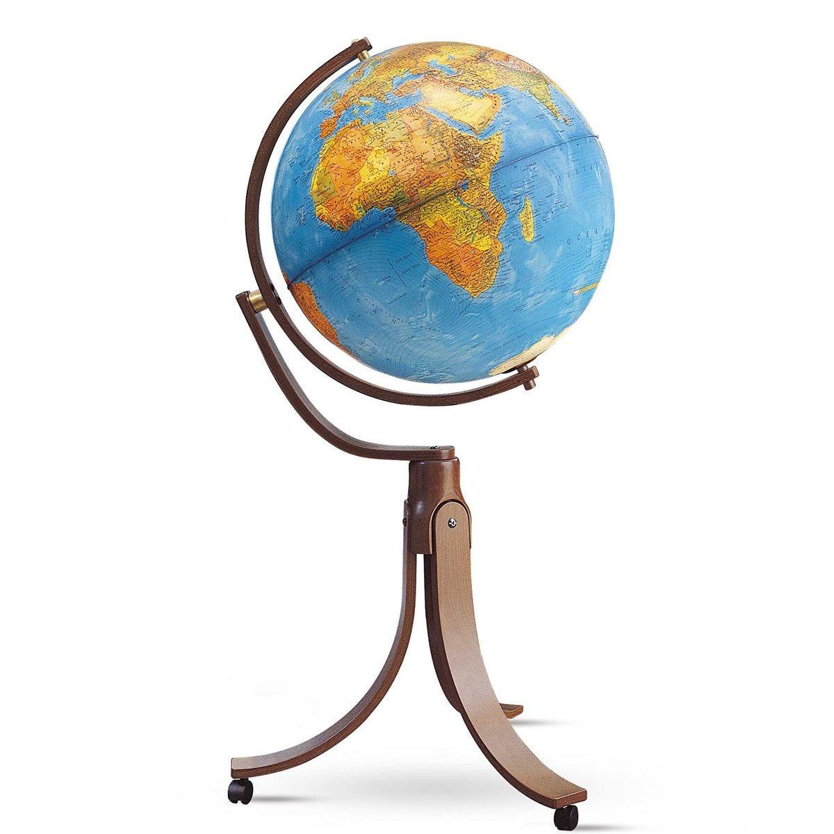 Nova Rico 50cm Emily Freestanding Illuminated Hardwood Globe
