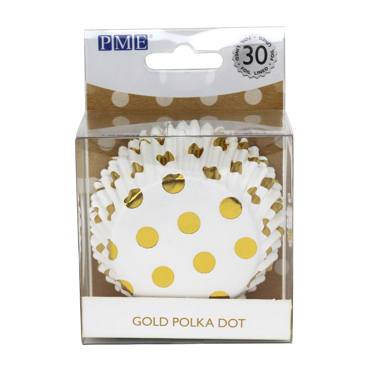 PME Gold Foil Polka Dots Lined Cupcake Cases