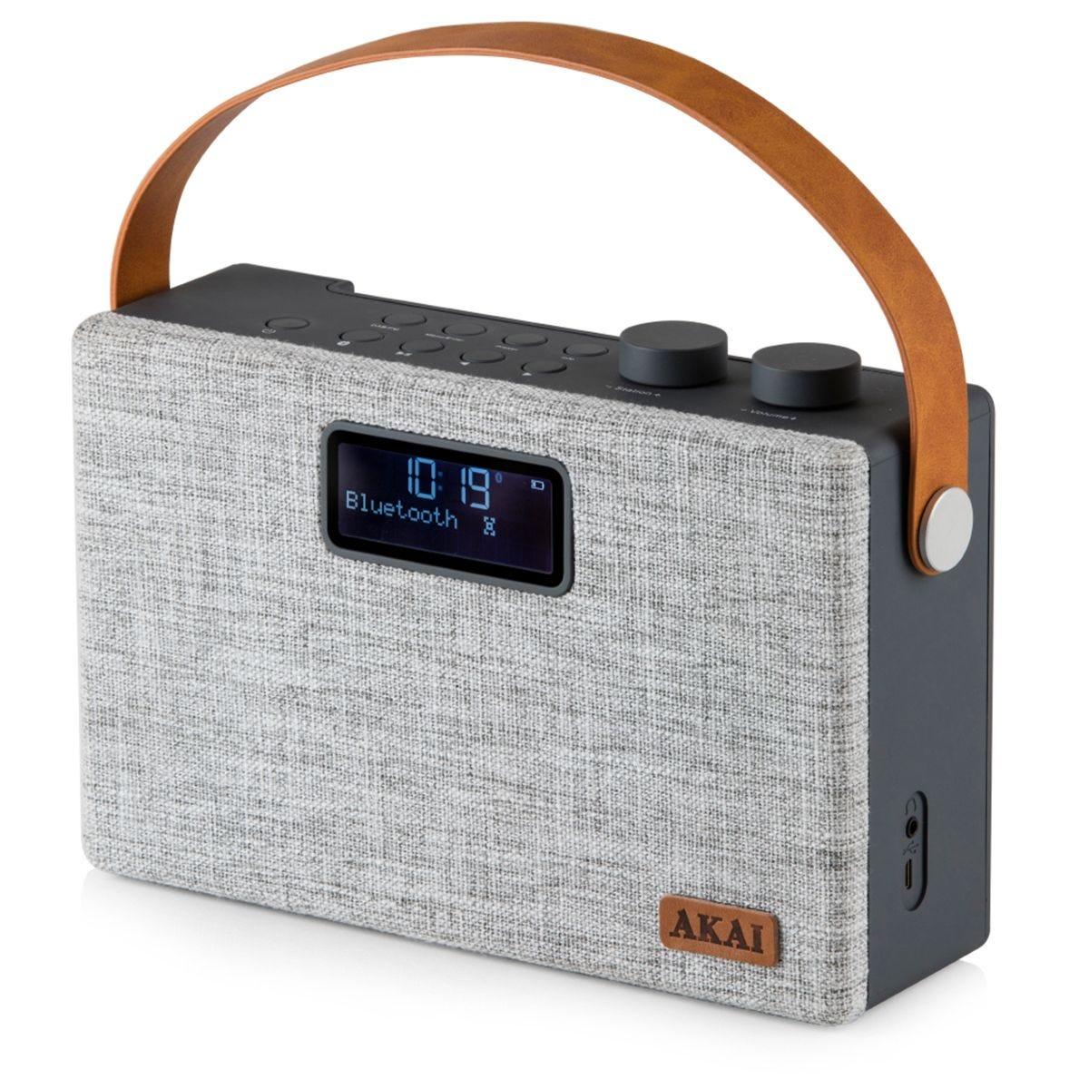 AKAI Bluetooth DAB + Radio - Grey