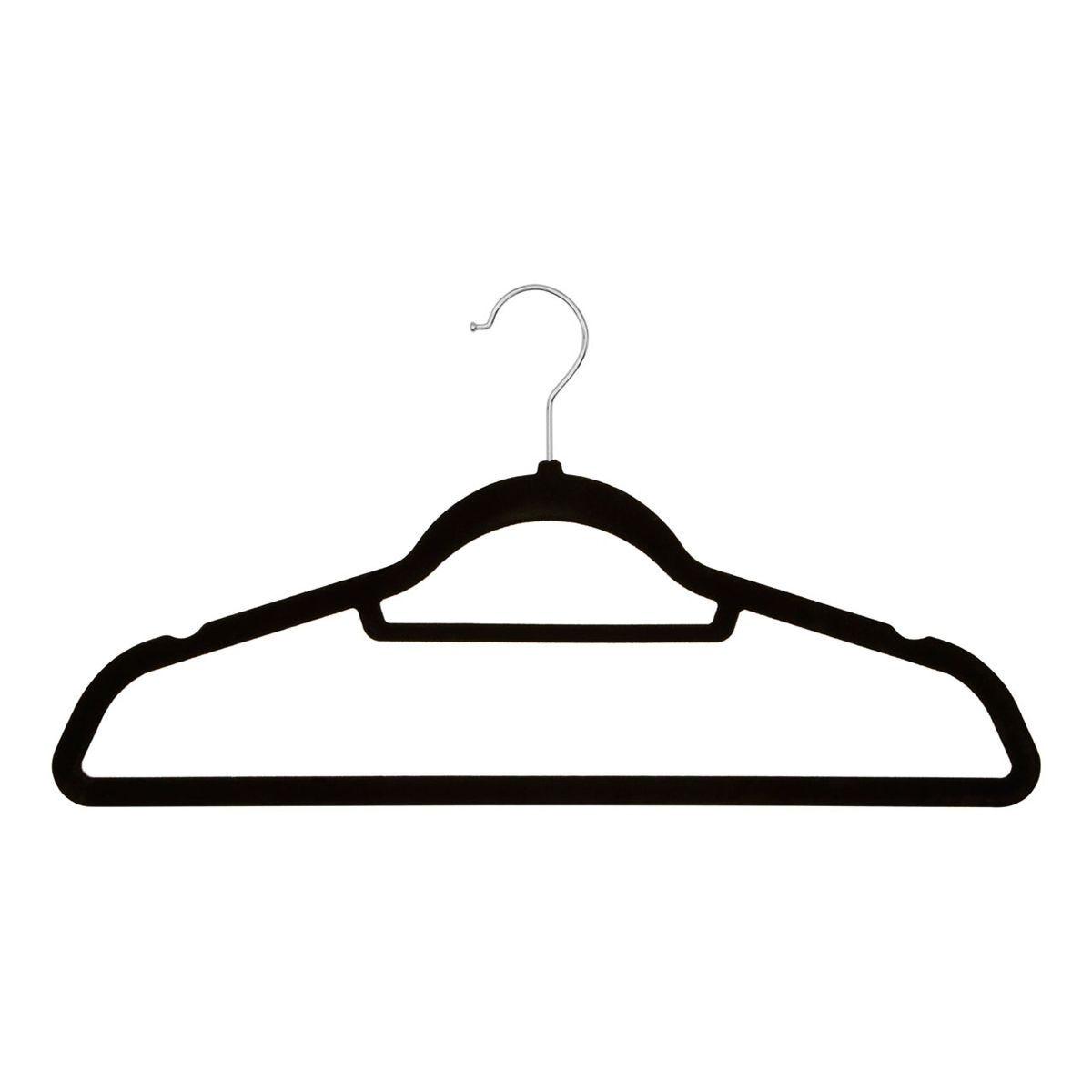 Premier Housewares Spectrum Hangers Set Black Velvet - 20 Pieces