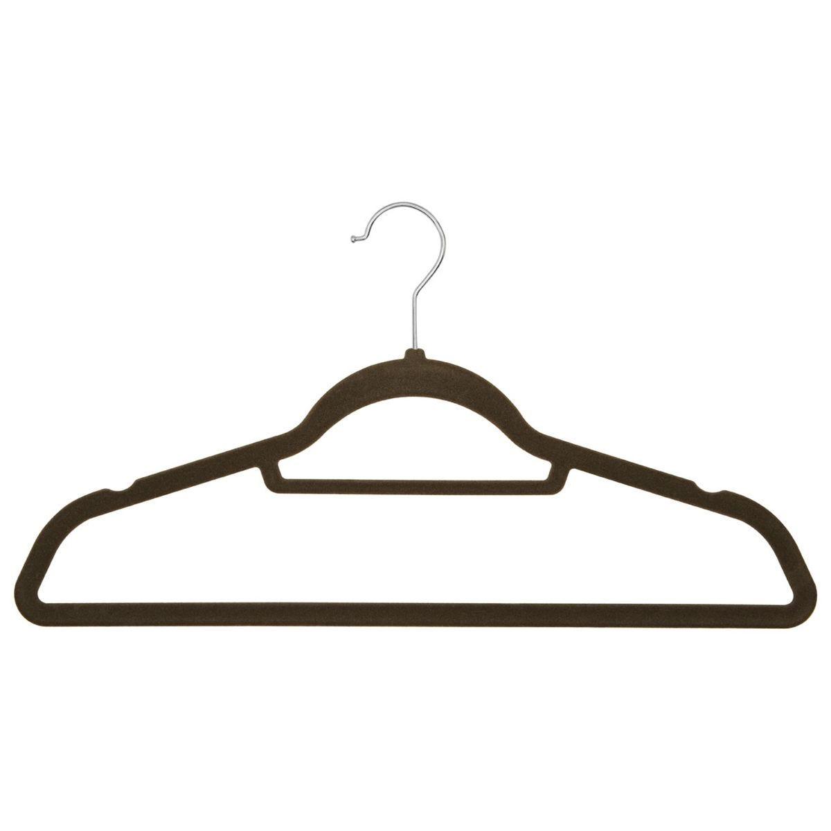 Premier Housewares Spectrum Hangers Set Grey Velvet - 20 Pieces