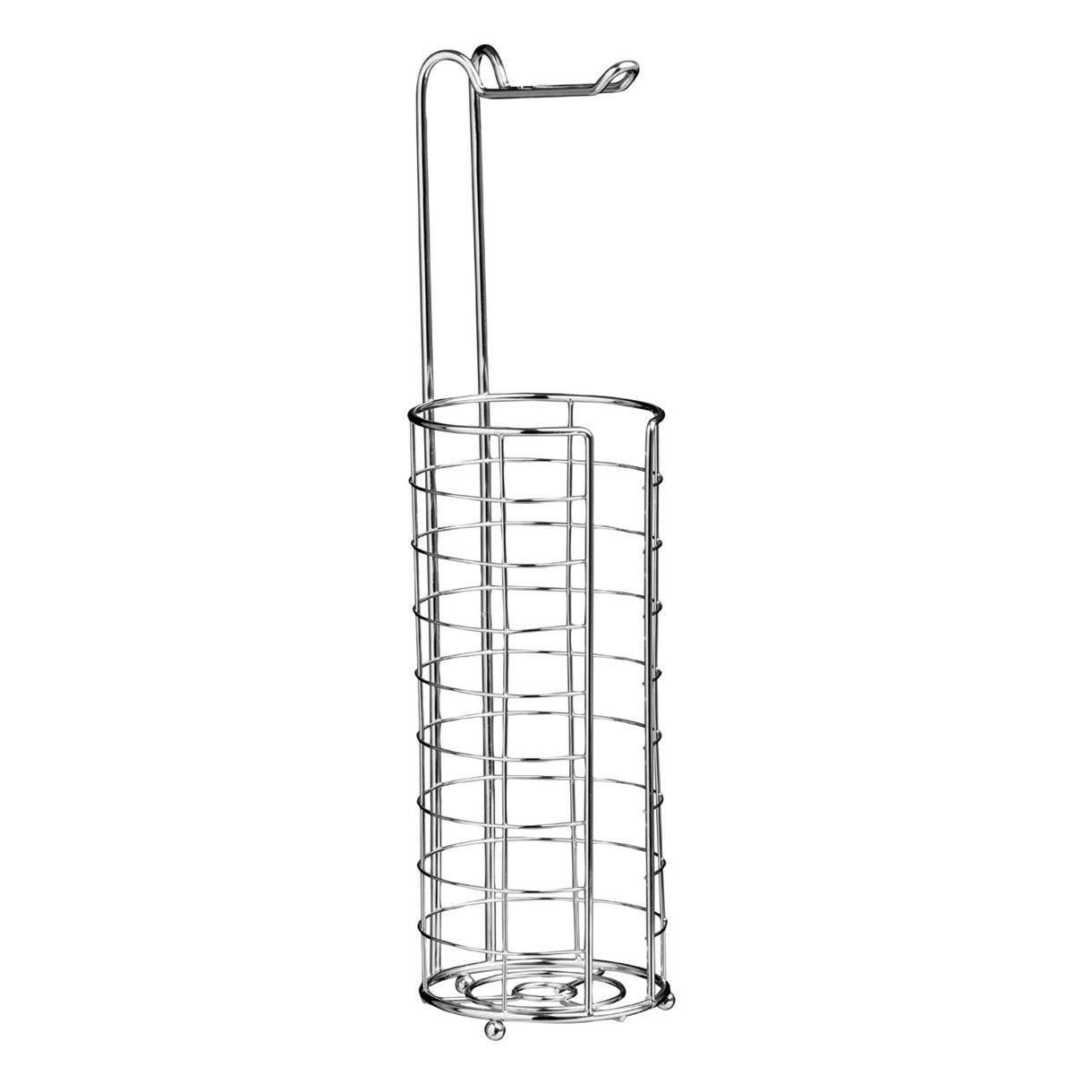 Premier Housewares Toilet Roll Holder/Storer Chrome