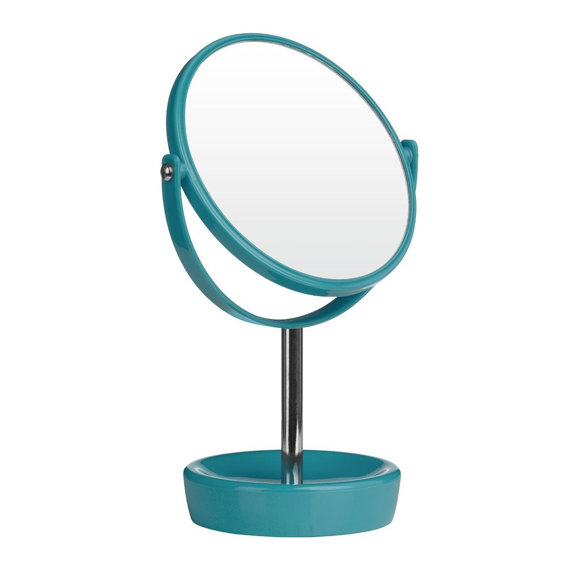 Premier Housewares Turquoise Swivel Mirror with Magnifying Option