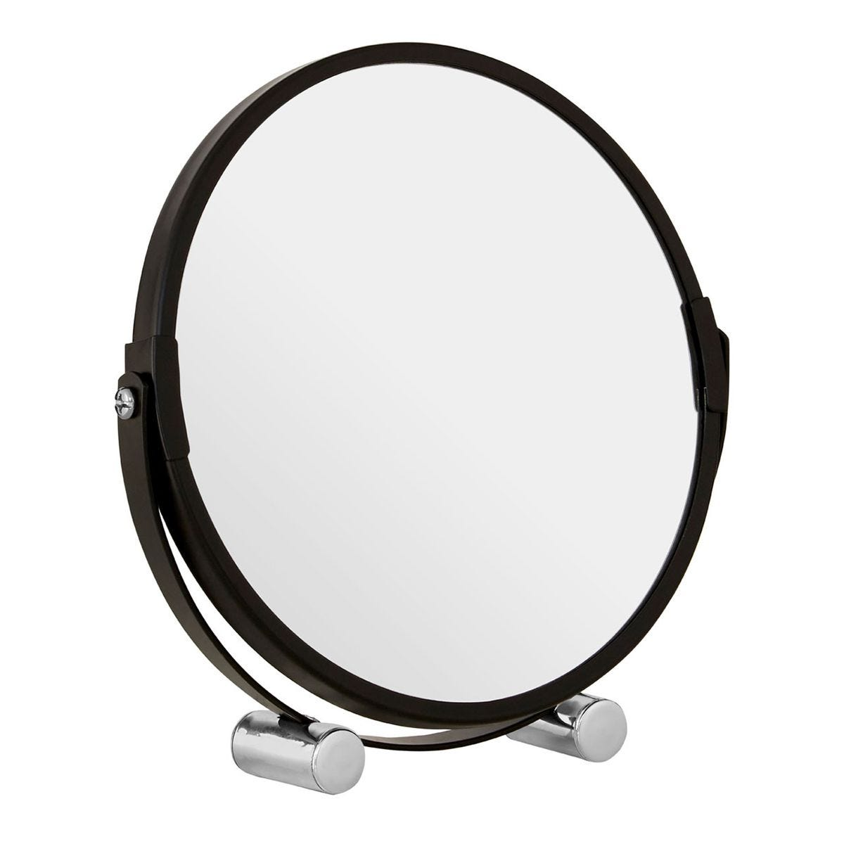 Premier Housewares Black Metal Magnifying Shaving Mirror