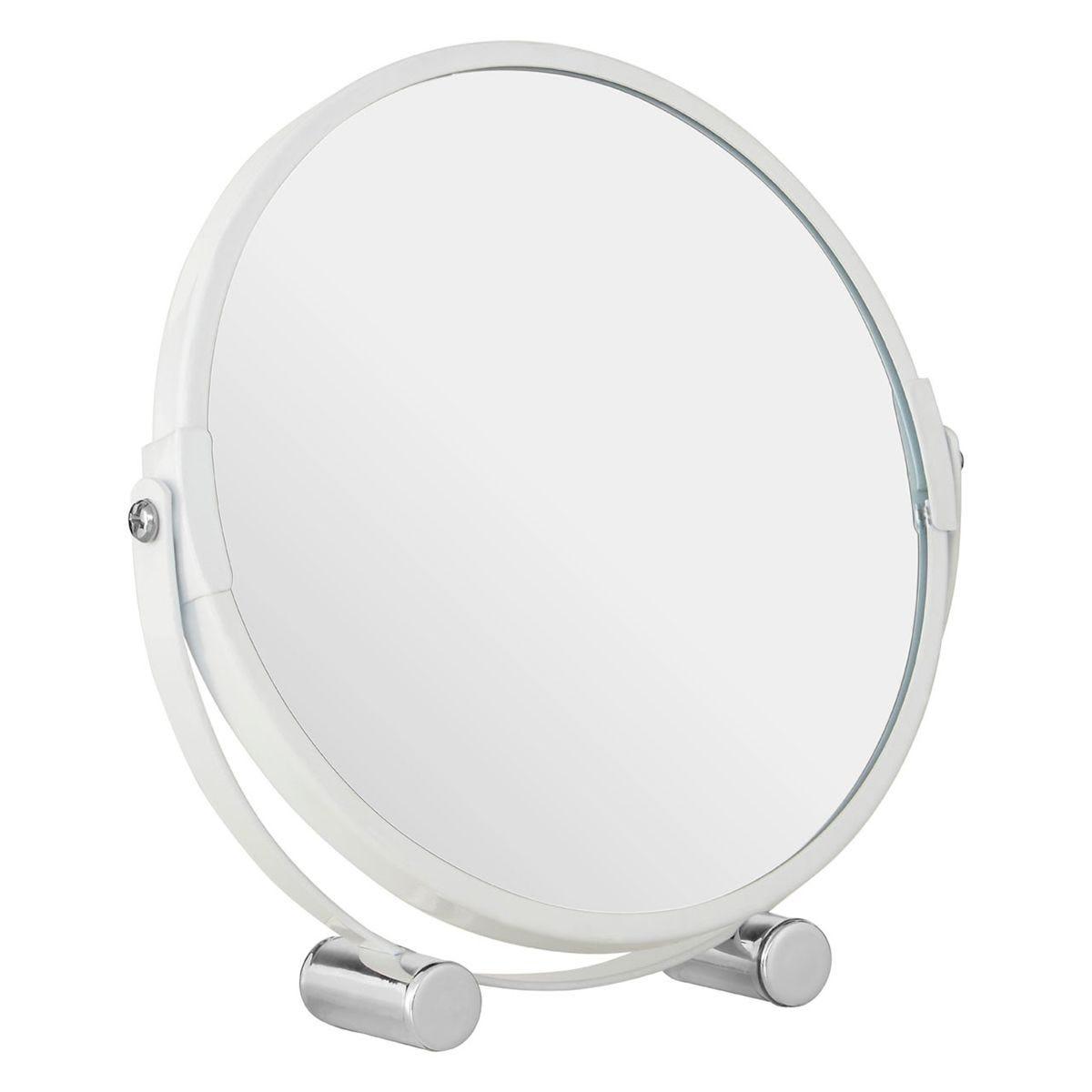 Premier Housewares White Metal Magnifying Shaving Mirror