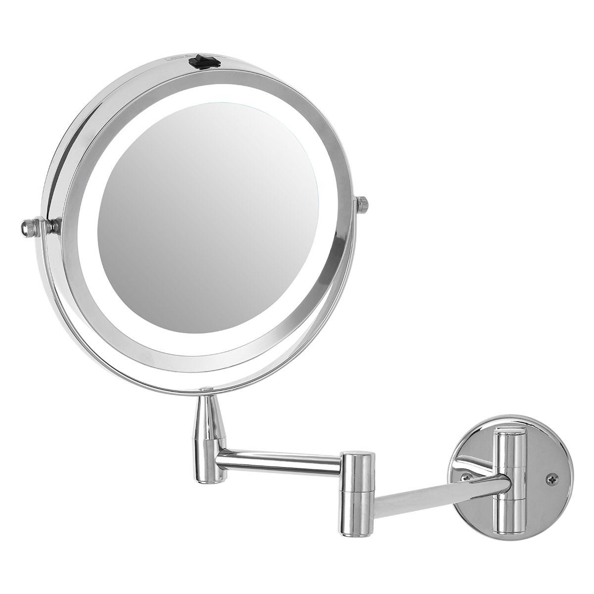 Premier Housewares Silver LED Cassini Wall Mounted Mirror