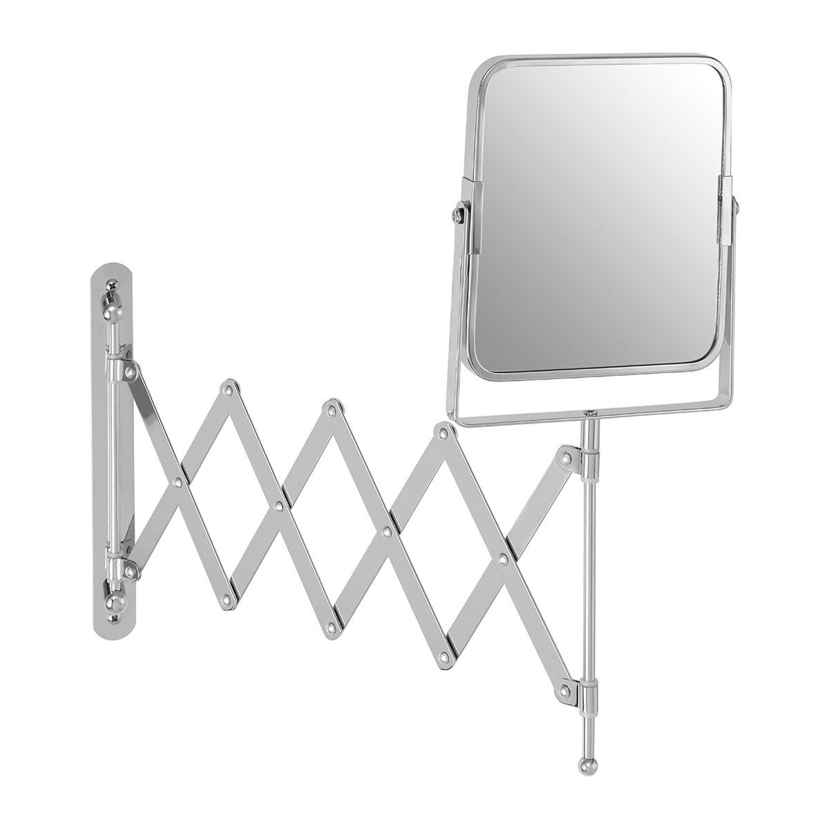 Premier Housewares Silver Square Cassini Wall Mounted Mirror