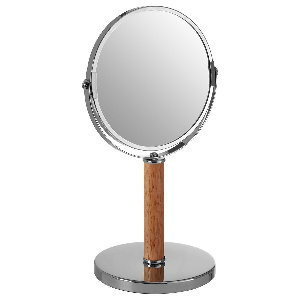Premier Housewares Rubberwood Cassini Table Mirror