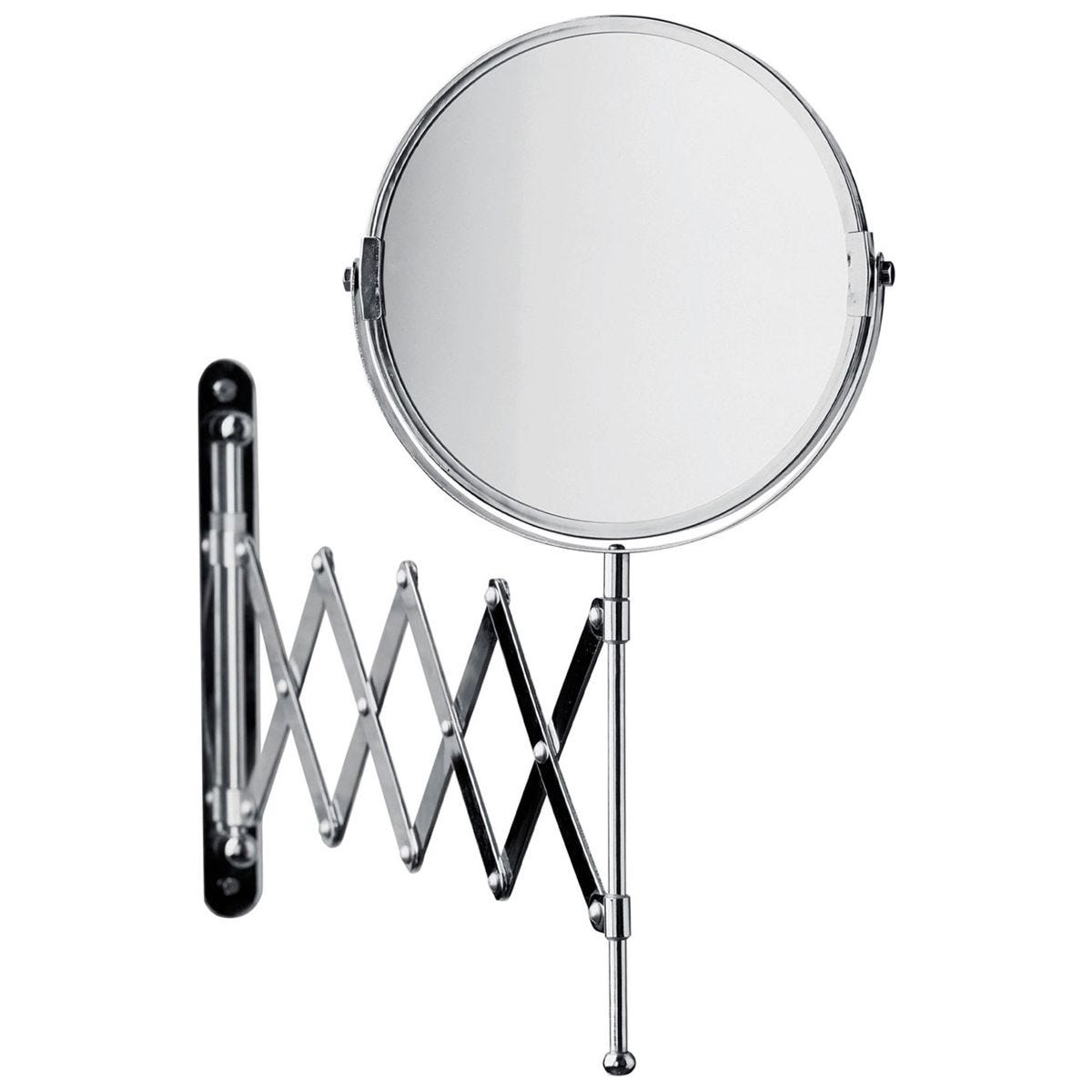 Premier Housewares Wall Mounted Magnifying Mirror With Folding Arm