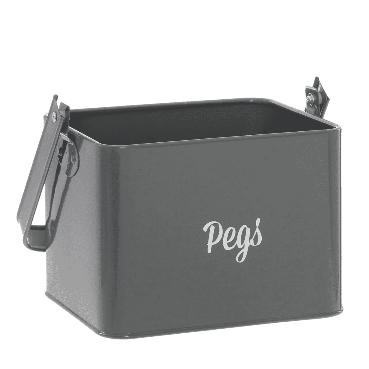 Premier Housewares Marlo Grey Peg Box With Handle