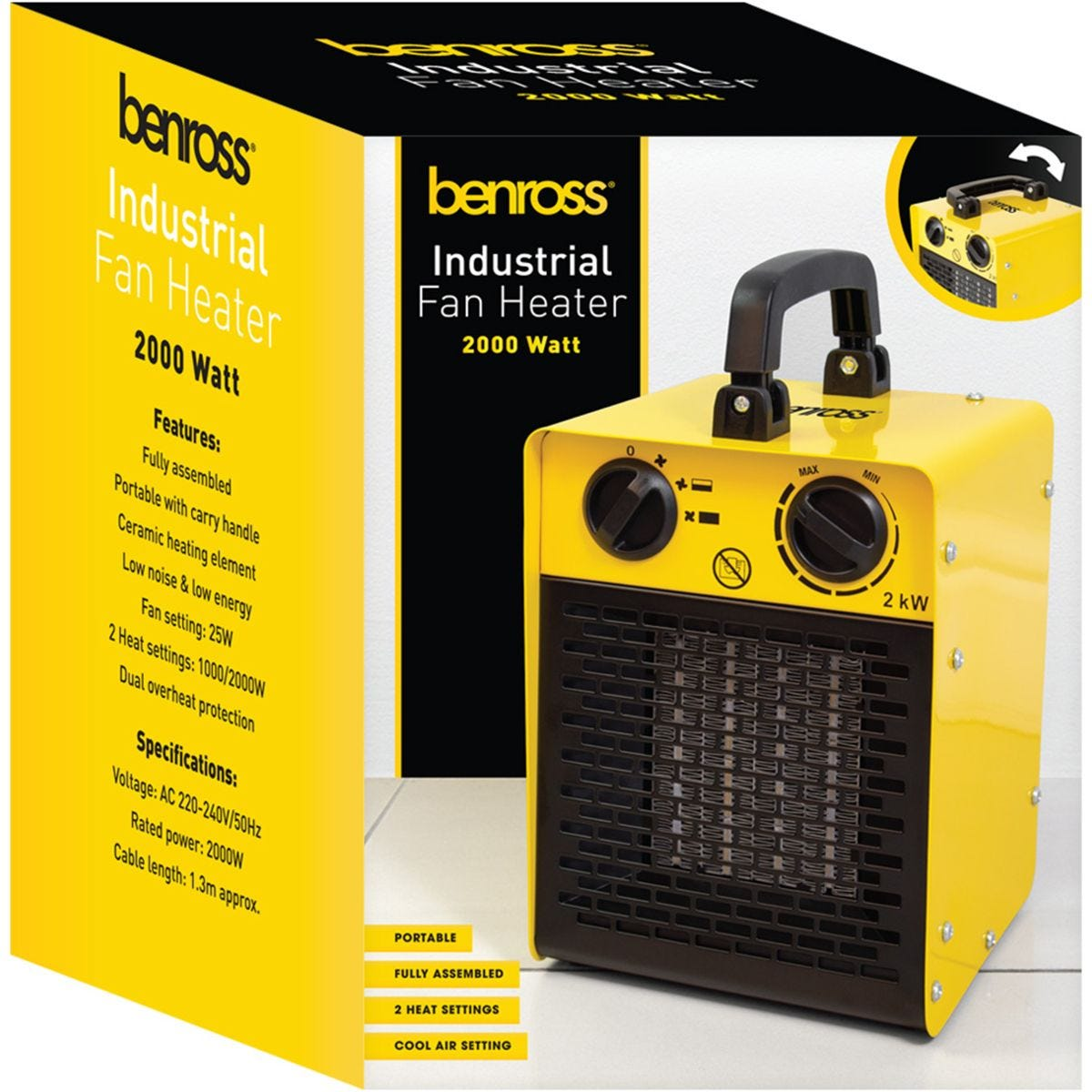 Benross 2kw Industrial Fan Heater