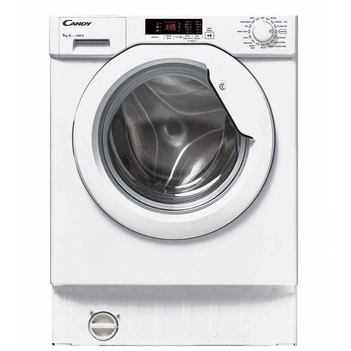 Candy CBWM914S 9kg 1400rpm Integrated Washing Machine - White
