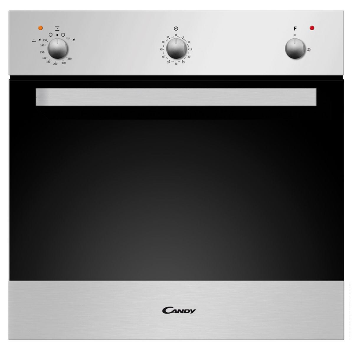 Candy OVG505/3X 54L Built-in Gas Single Oven - Silver