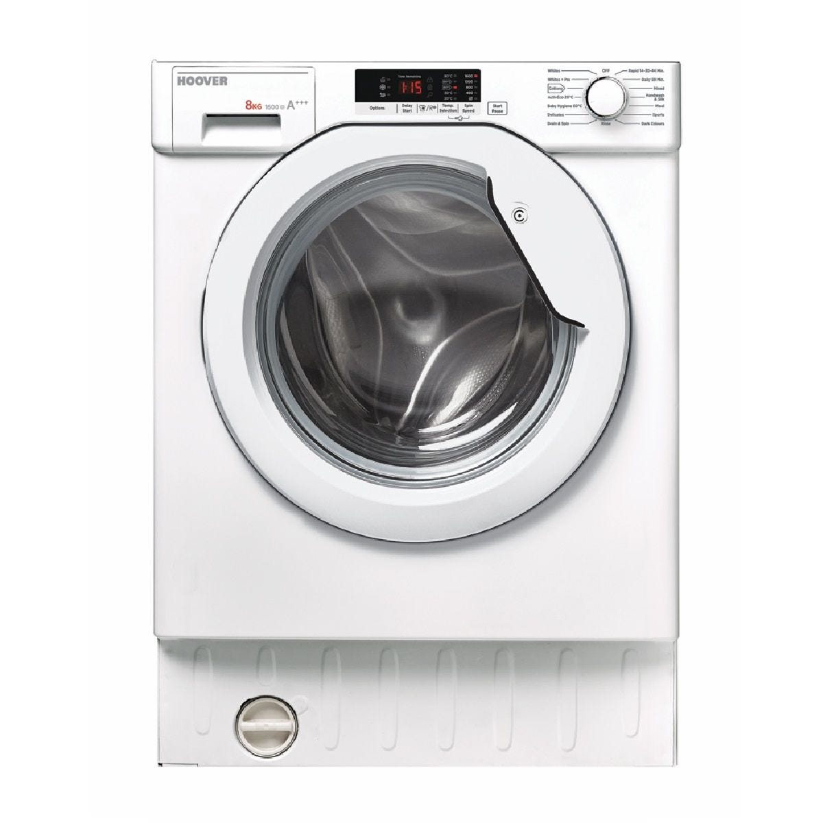 Hoover HBWM 816S Fully Integrated 8kg 1600rpm Washing Machine - White