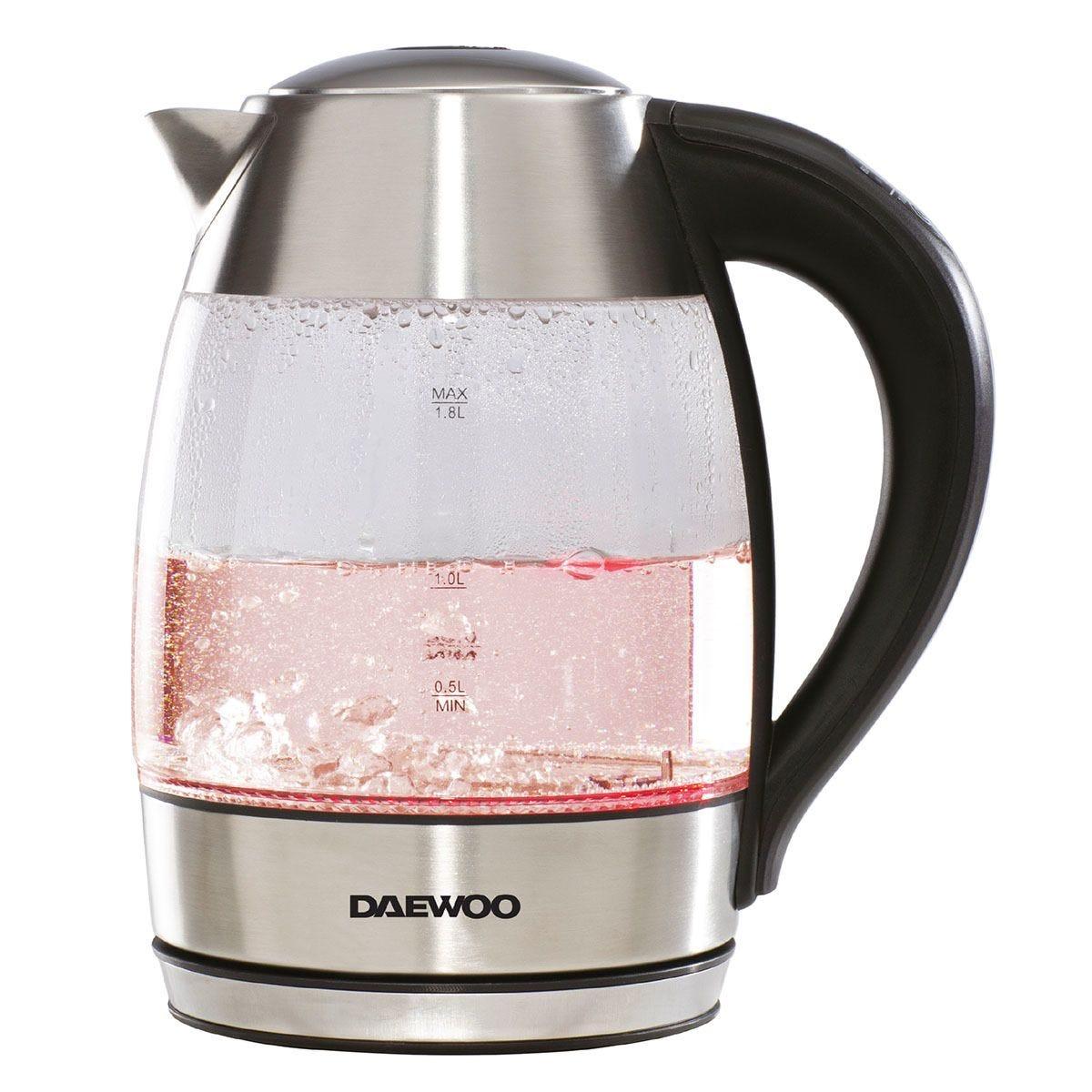 Daewoo SDA1670 2200W Digital Temperature Control 1.8L Kettle - Stainless Steel