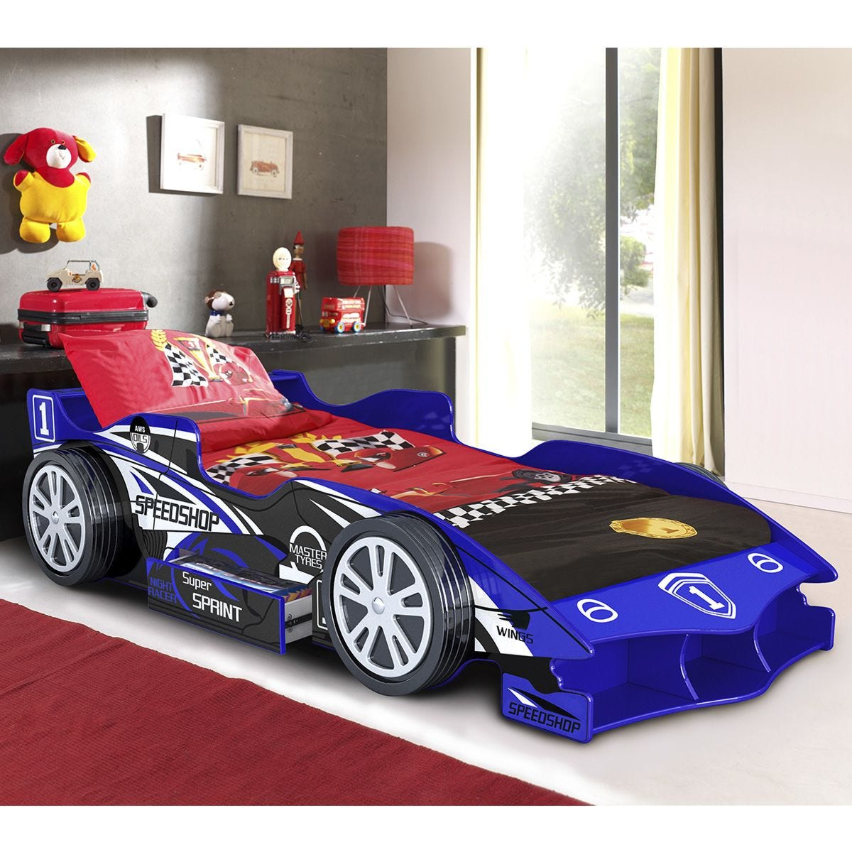 The Artisan Bed Company Speed Racer Car Bed - Blue