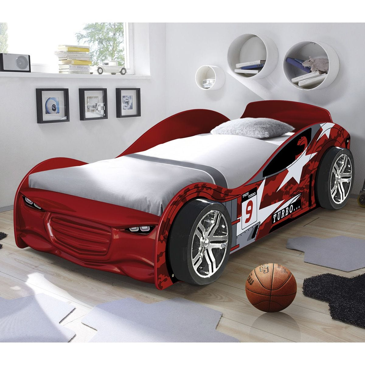 The Artisan Bed Company Twin Turbo Car Bed - Red