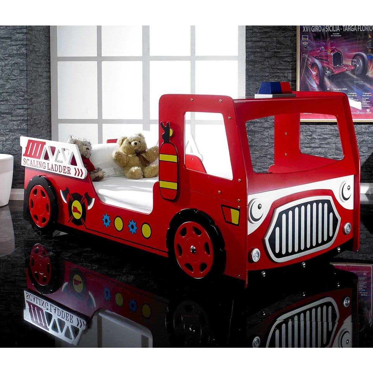 The Artisan Bed Company Fire Engine Bed - Red