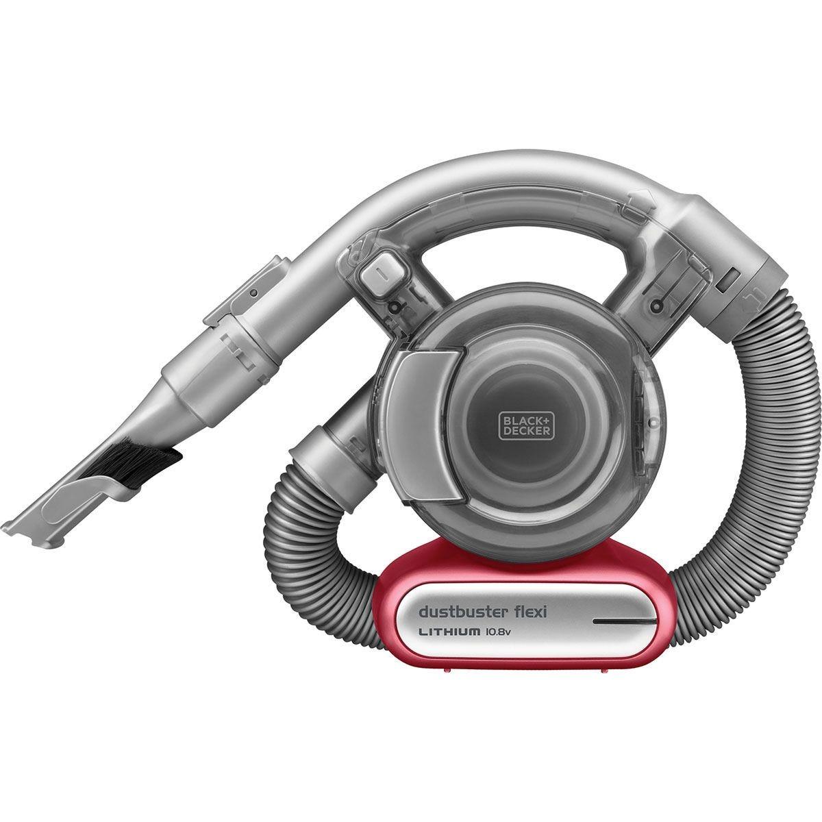 Black + Decker PD1020L-GB Flexi Dustbuster 10.8V Cordless Handheld Vacuum Cleaner - Grey/Red