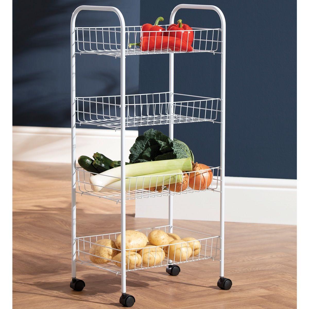 Robert Dyas 4 Tier Wire Kitchen Trolley