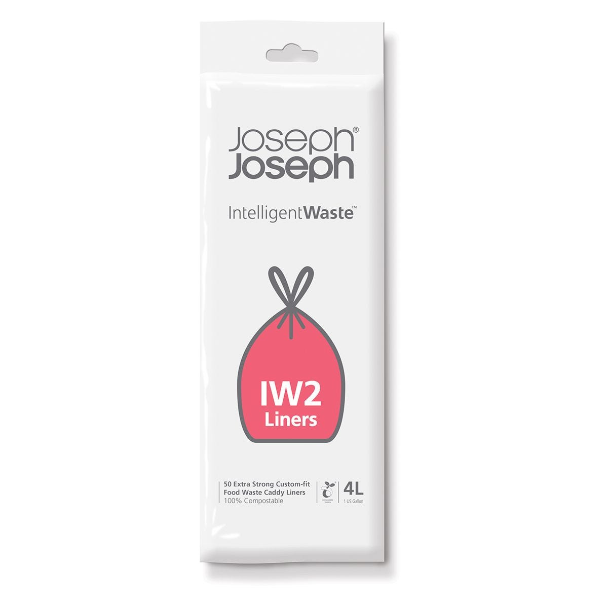 Joseph Joseph IW2 4 Litre Food Waste Caddy Liners - 50 Pack