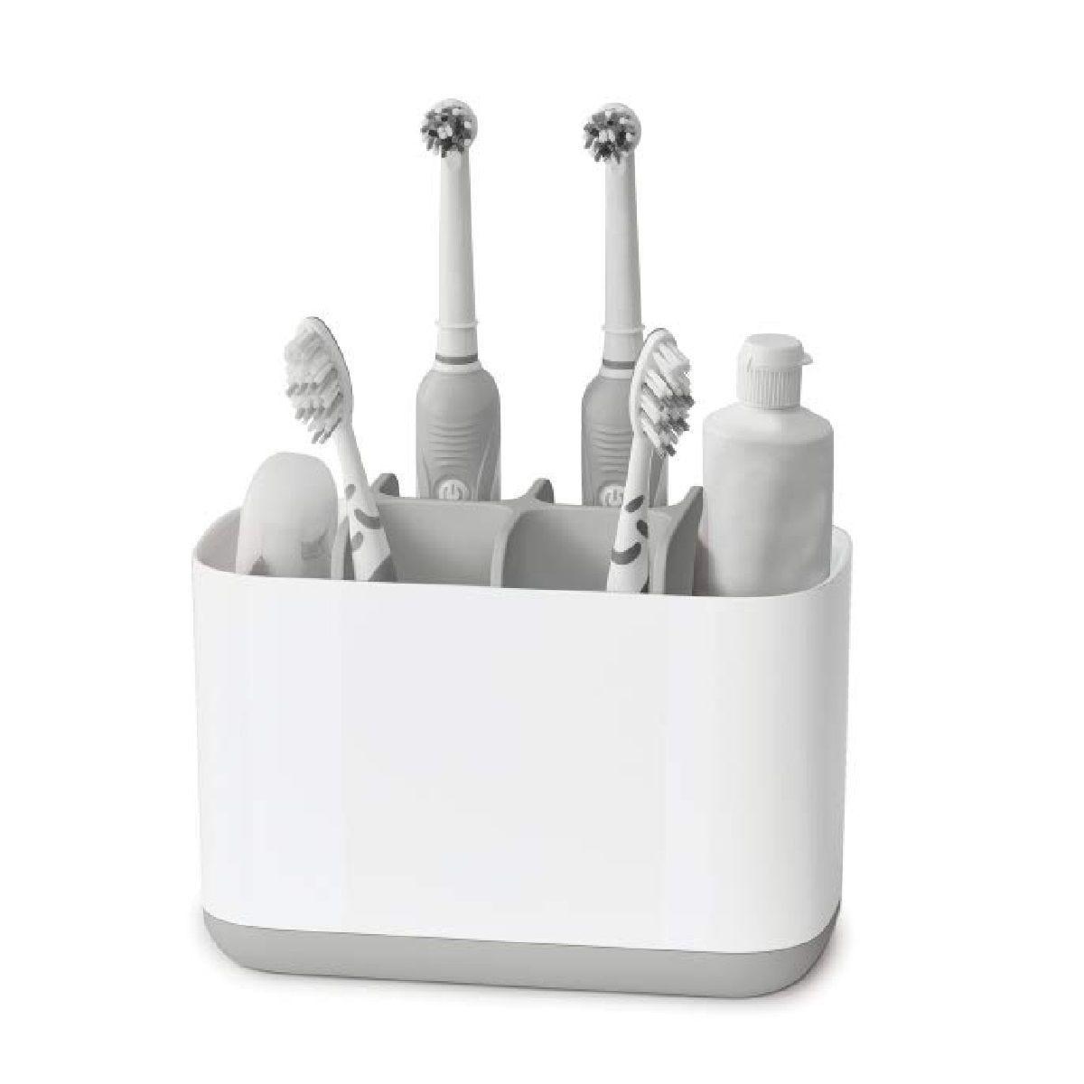 Joseph Joseph EasyStore Toothbrush Caddy Large - Grey/White