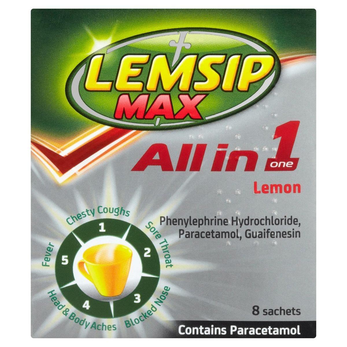 Lemsip Max All in One Lemon - 8 Sachets