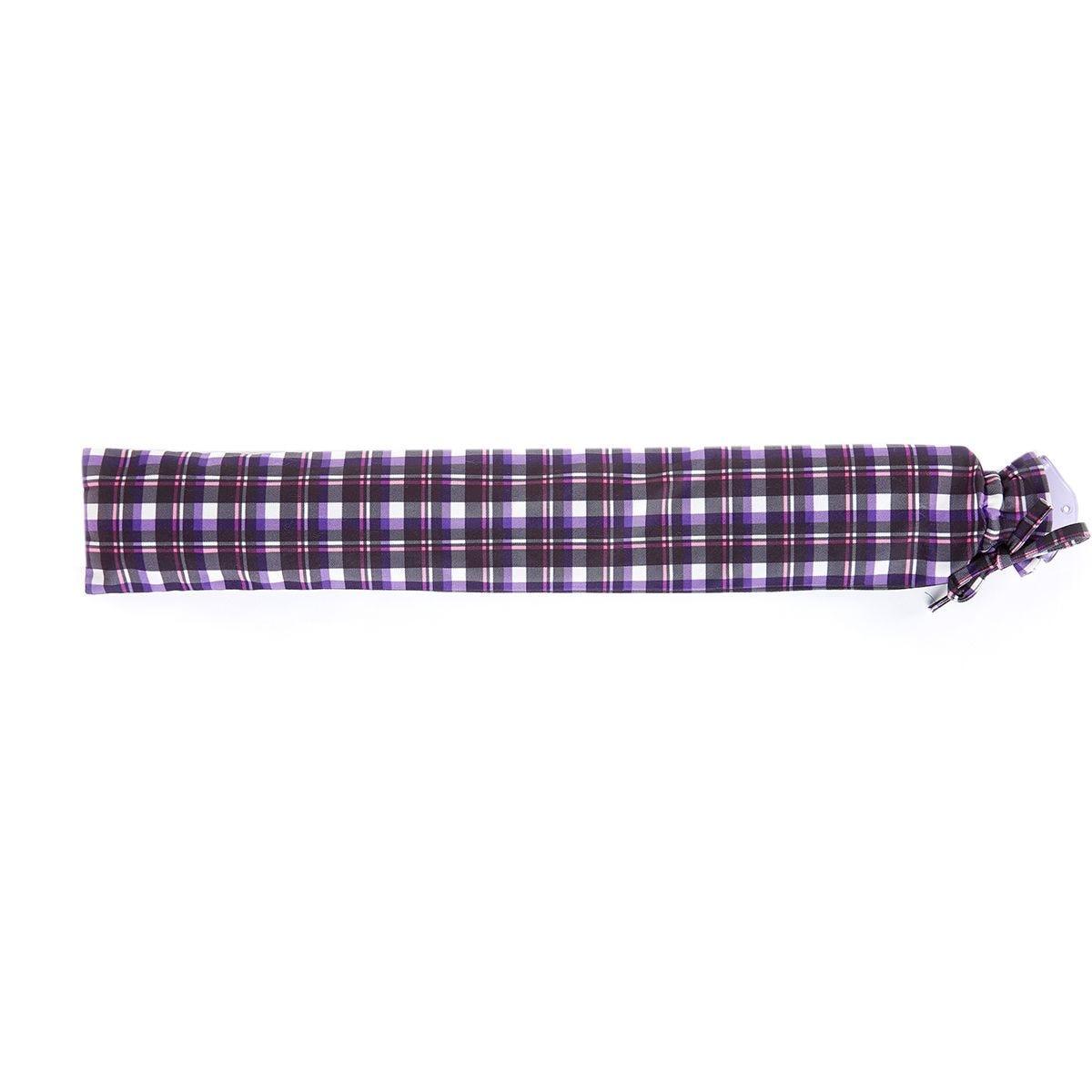 Warmies Extra Long Hot Water Bottle - Purple Tartan