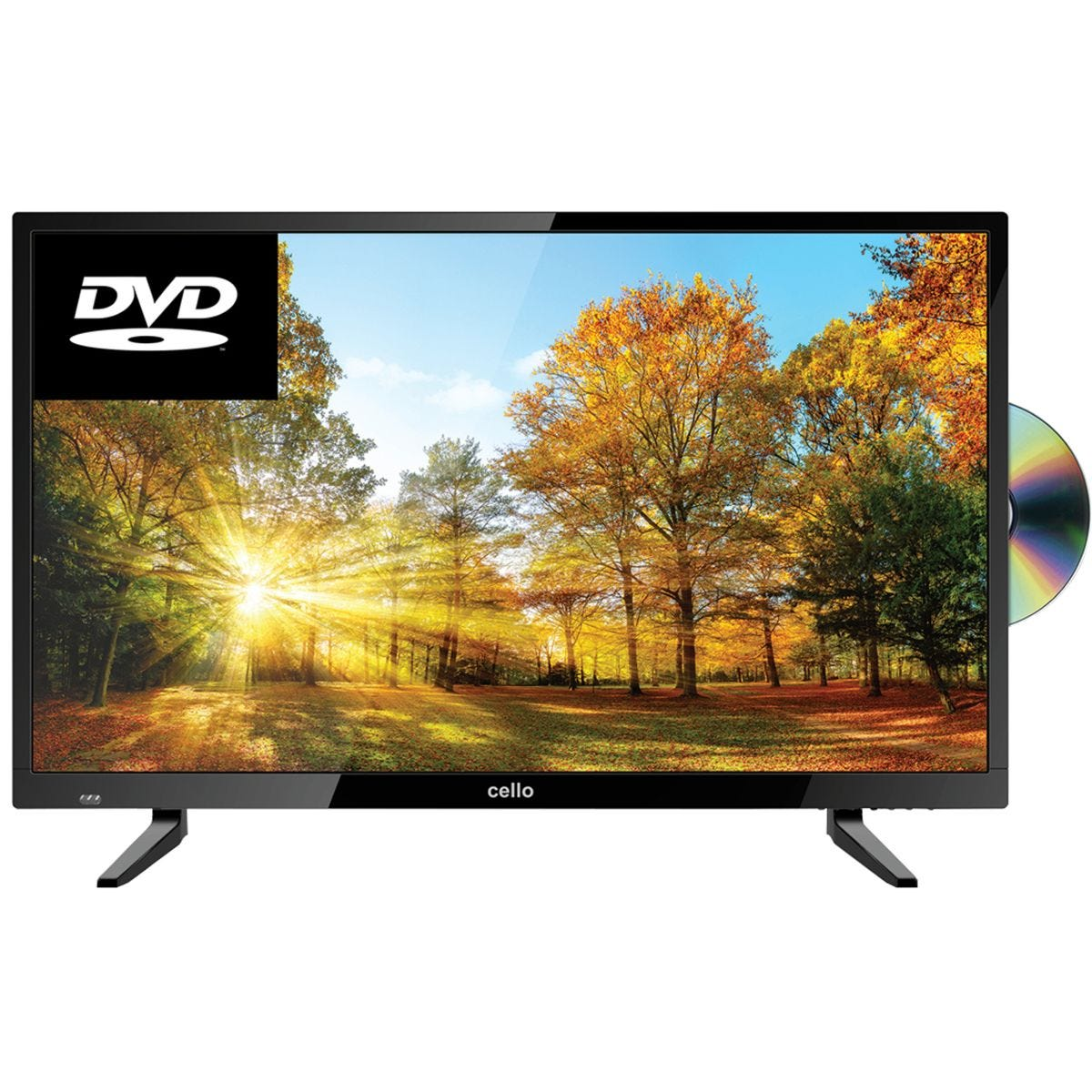 Cello 32 Inch HD Ready Freeview T2 HD TV with Built-in DVD Player - Black