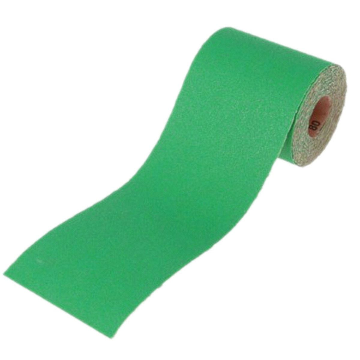 Faithfull Aluminium Oxide Sanding Paper Roll Green 115mm x 5m - 80g