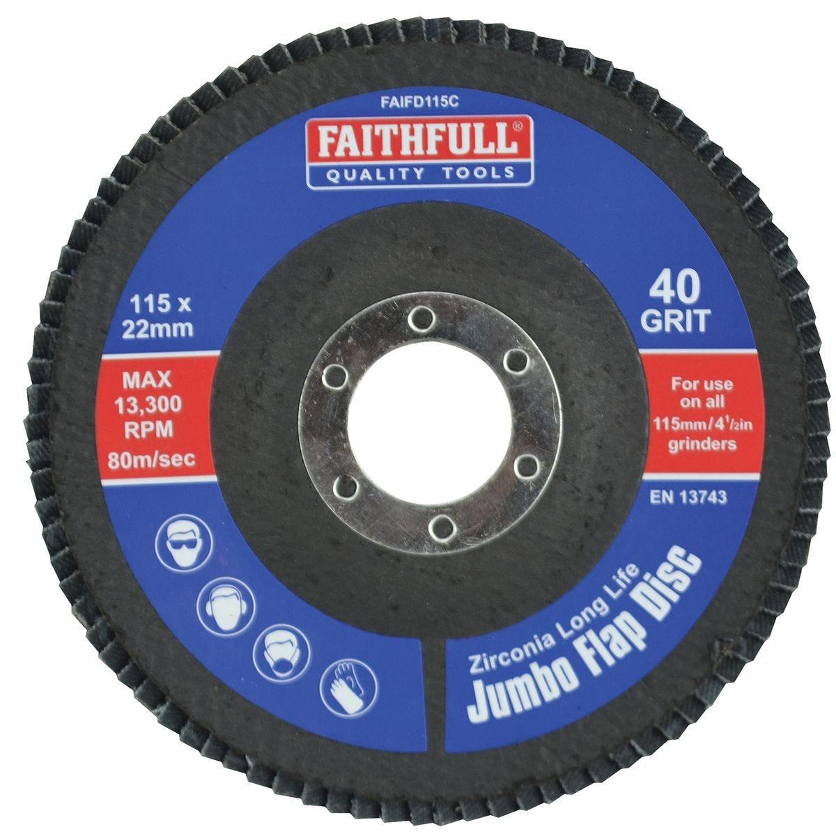 Faithfull Flap Disc 115mm - Coarse