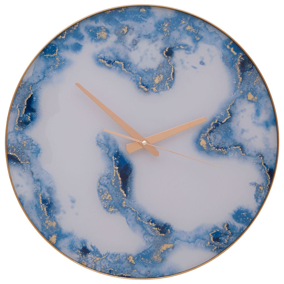 Fifty Five South Primrose 45cm Wall Clock - Blue Abstract