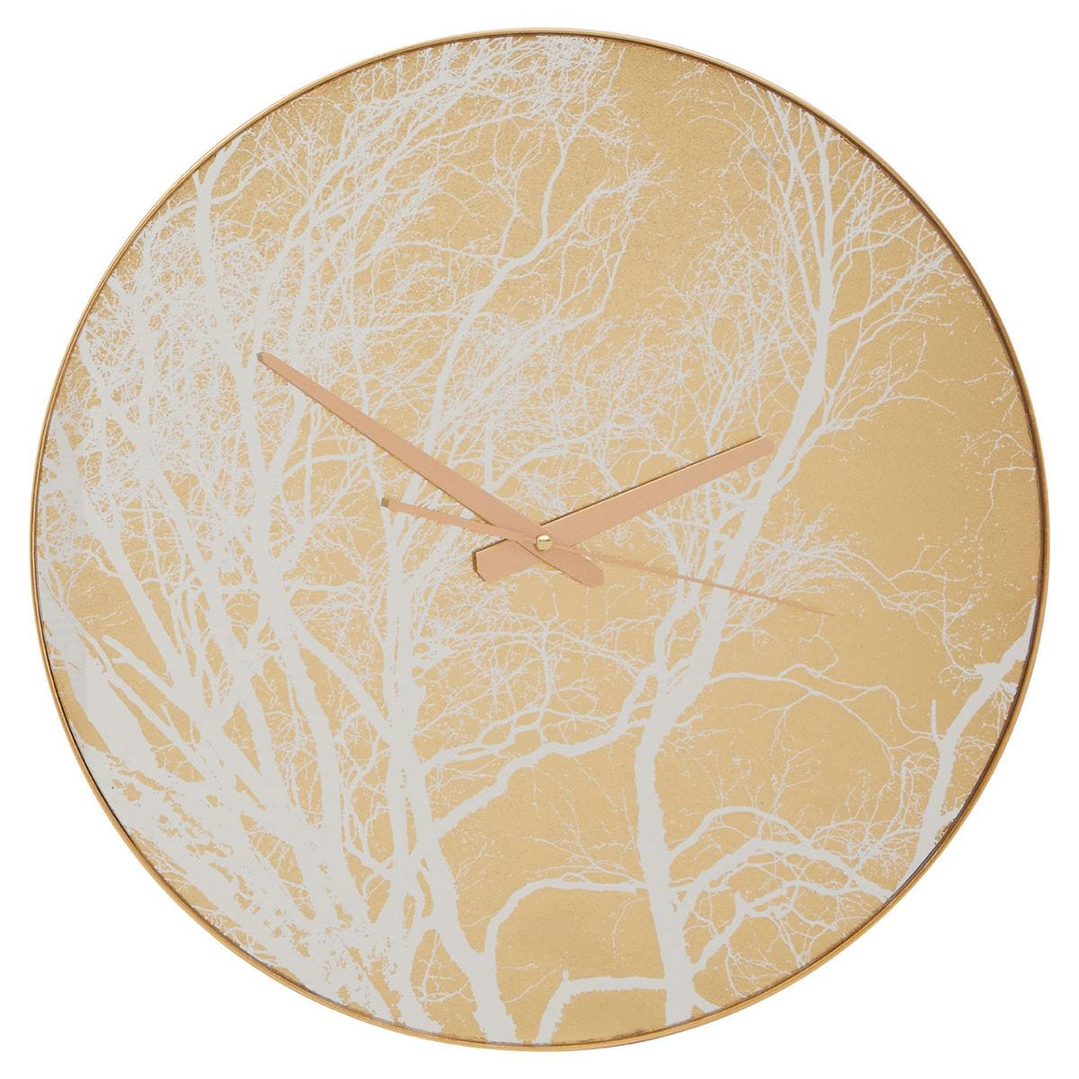Fifty Five South Celina Wall Clock with Gold Branch Pattern