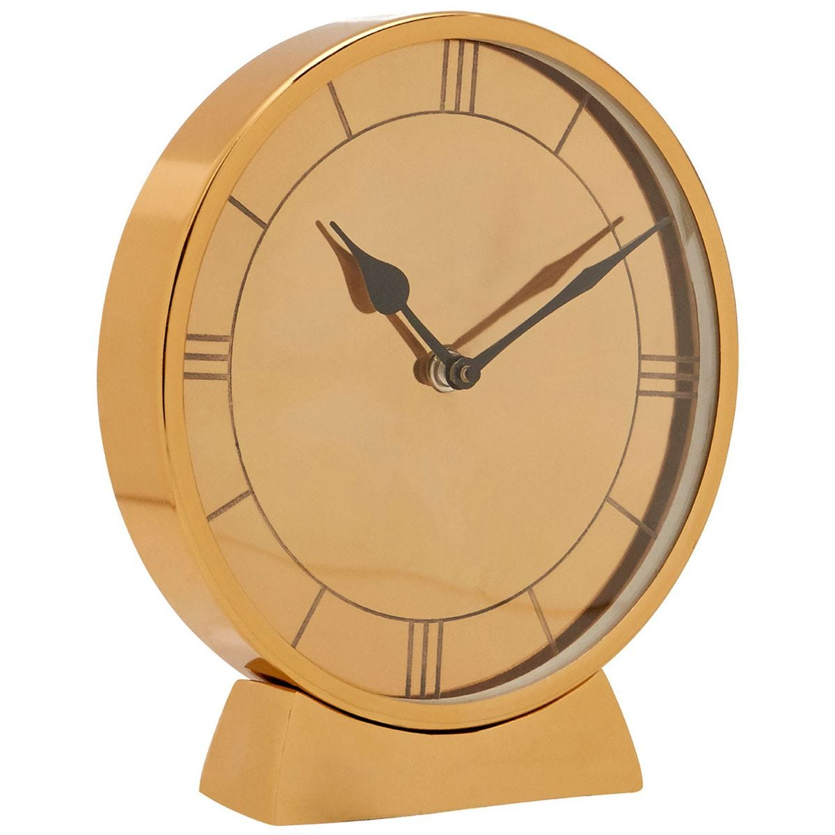 Fifty Five South Kensington Townhouse Round Table Clock - Gold Finish