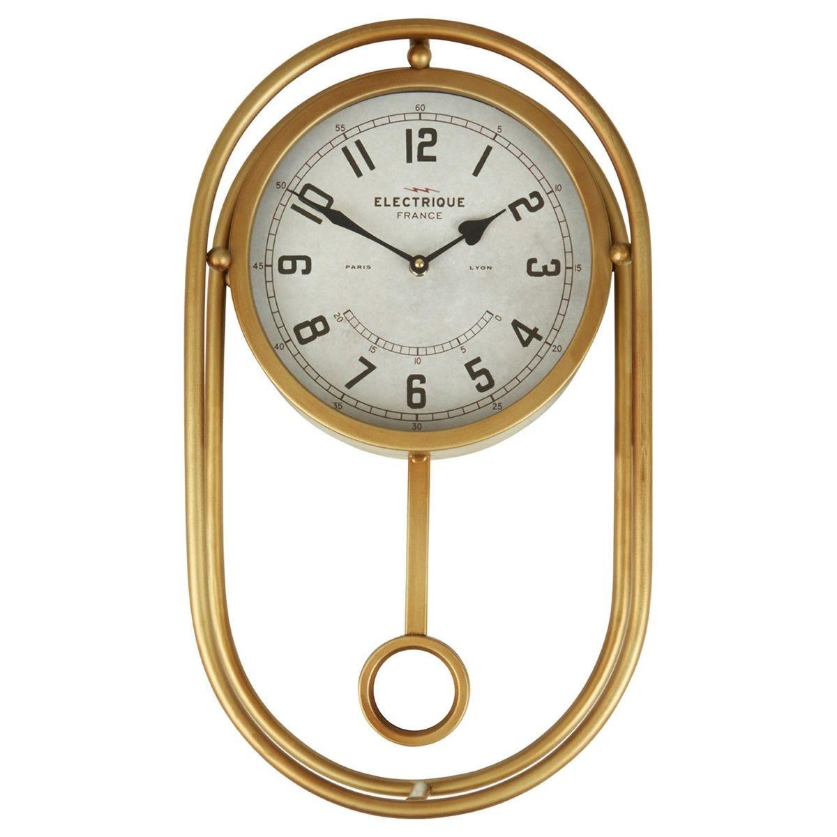 Agnes Wall Clock - Gold Finish
