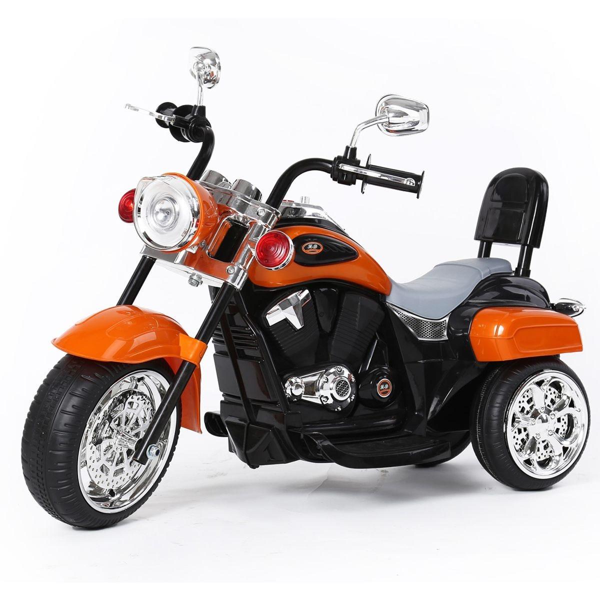Ricco 3 Wheel Battery Powered Harley Style Electric Chopper - Orange