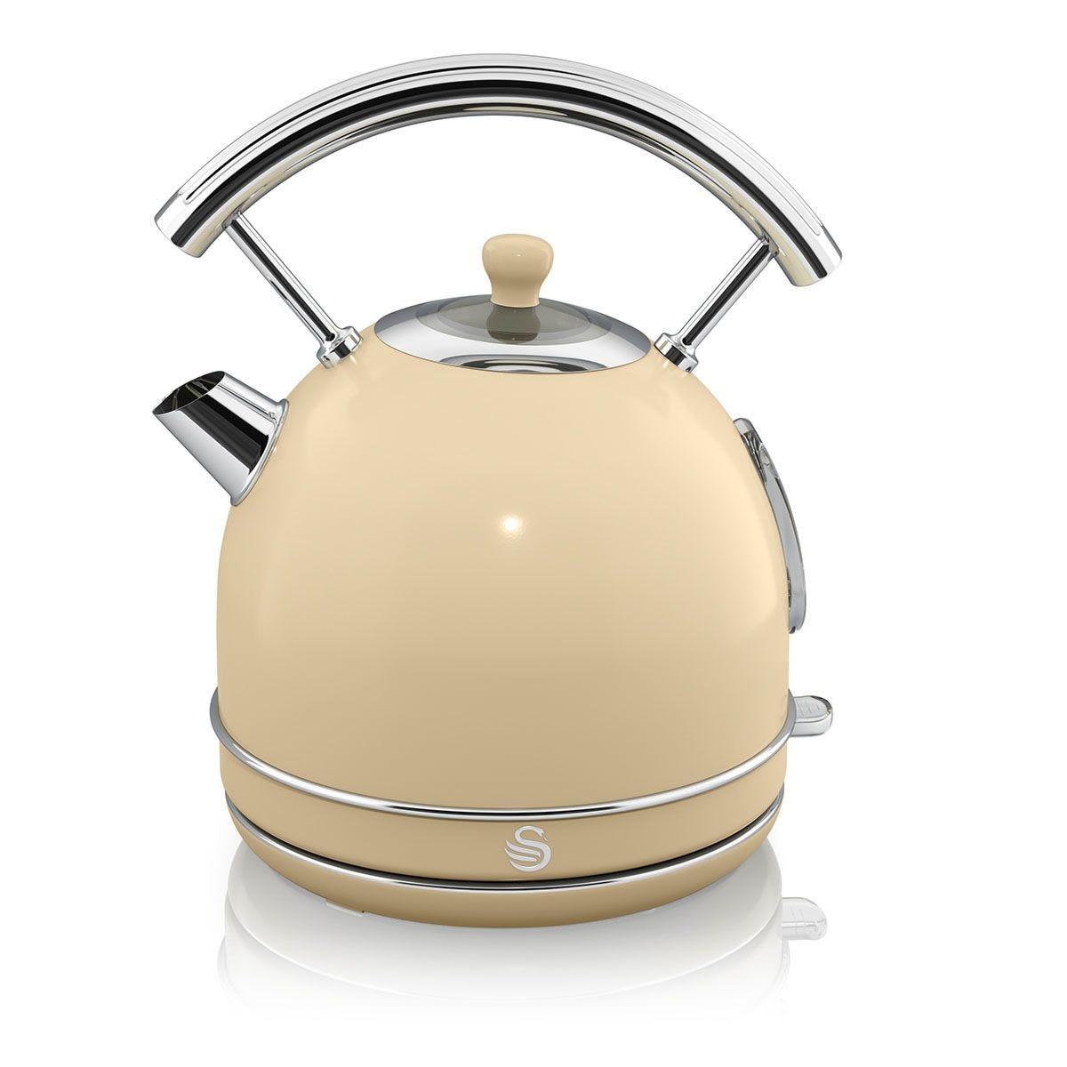 Swan 1.8L 3000W Retro Dome Kettle - Cream