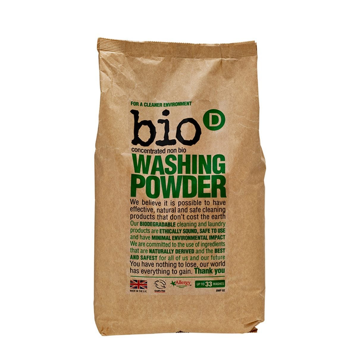 Bio-D Non-Bio Washing Powder - 2kg