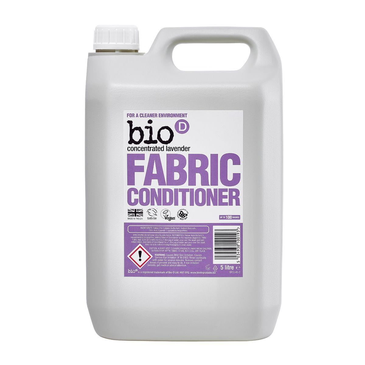 Bio-D Lavender Fabric Conditioner - 5L