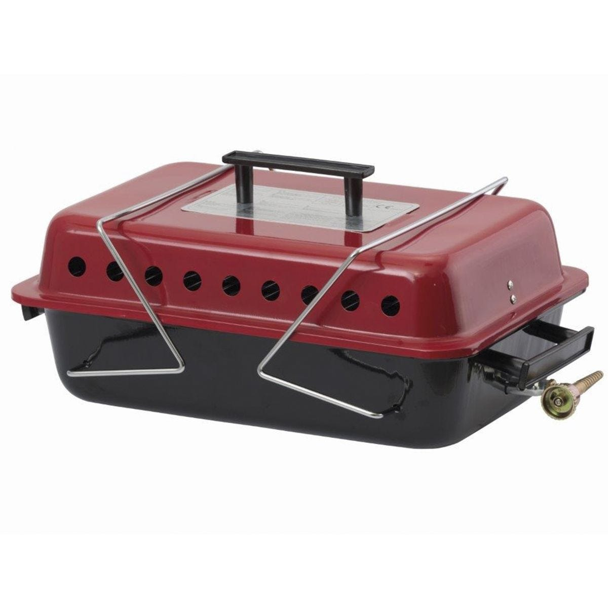 Portable Gas Camping BBQ with Lava Rocks