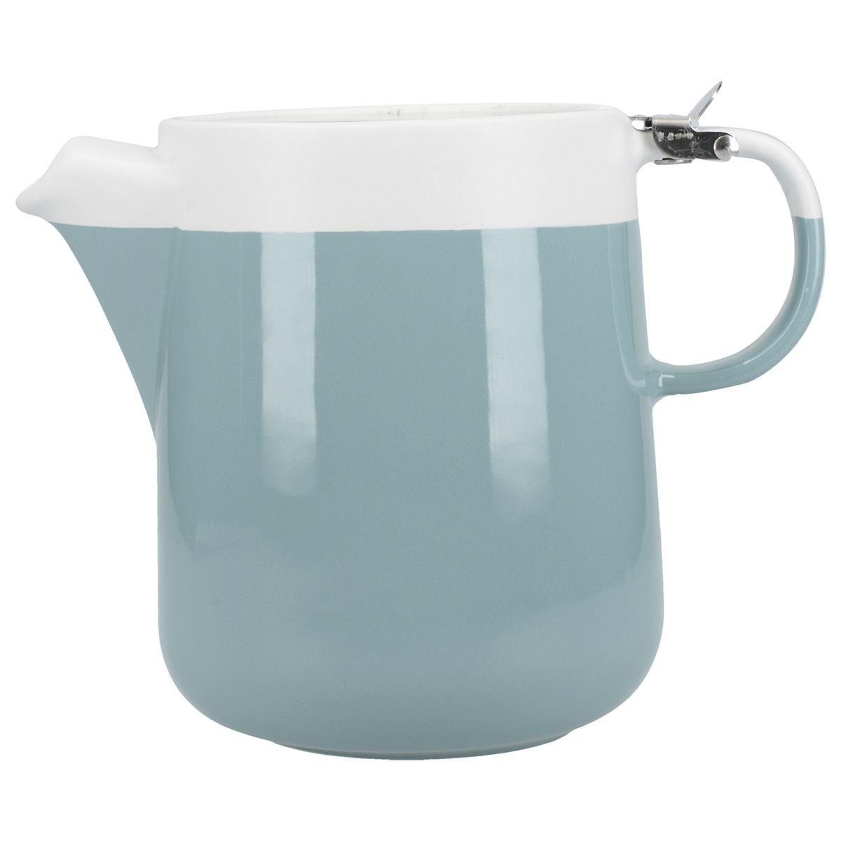 La Cafetiere Ceramic Barcelona Four Cup Teapot - Retro Blue 1.2 Litres