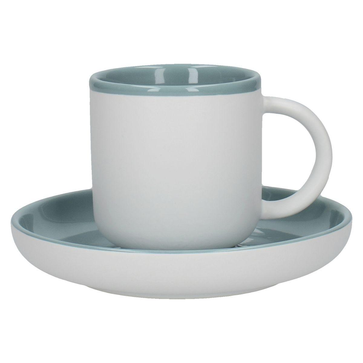 La Cafetiere Ceramic Barcelona Espresso Cup and Saucer - Retro Blue 120ml