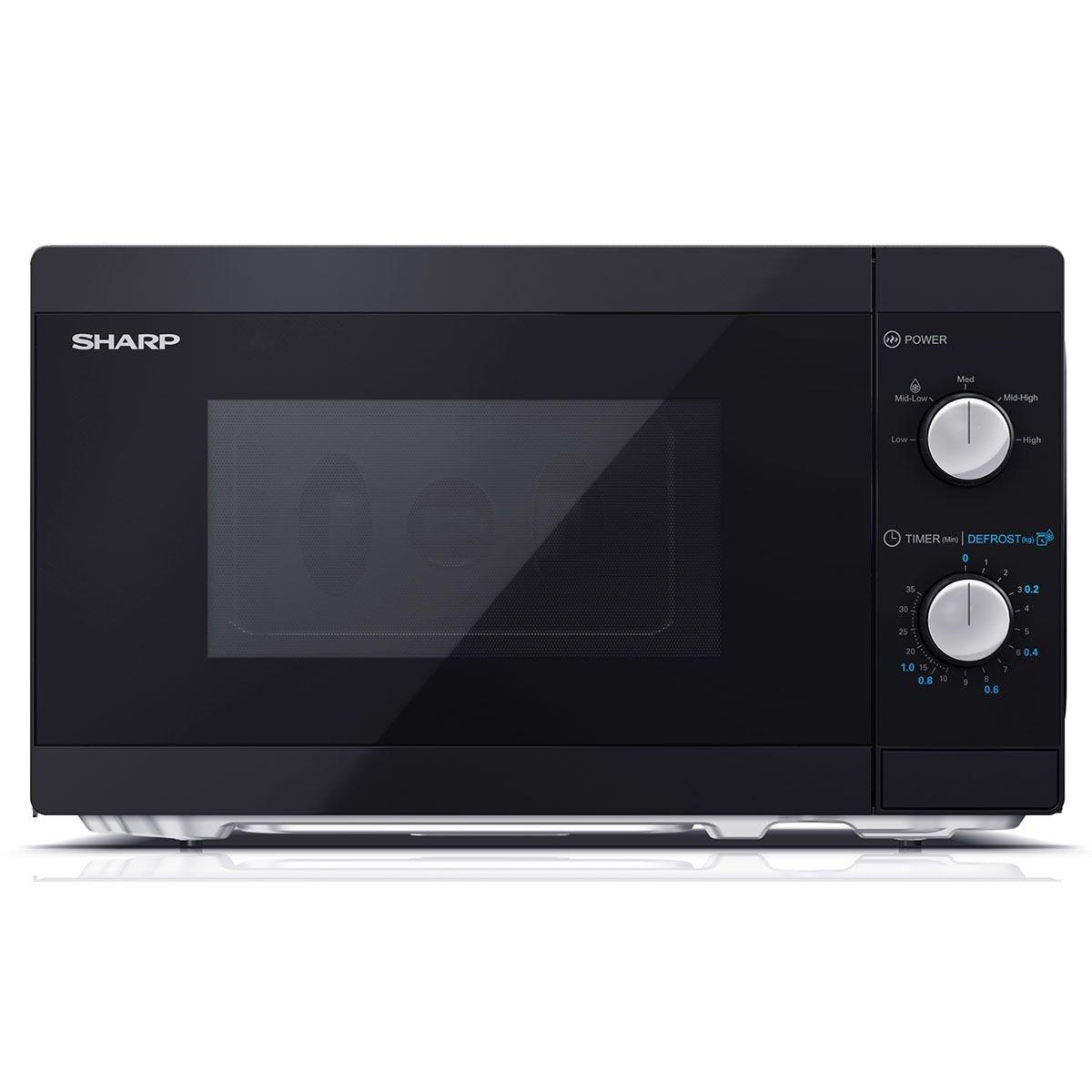 Sharp YC-MS01U-B 20L 800W Solo Manual Microwave - Black