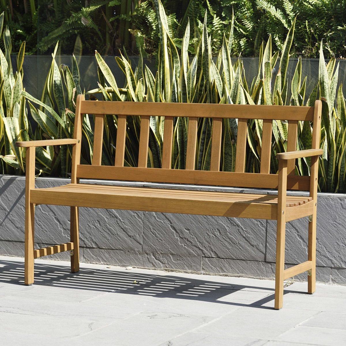 Lamu 2 Seater Eucalyptus FSC Wooden Bench